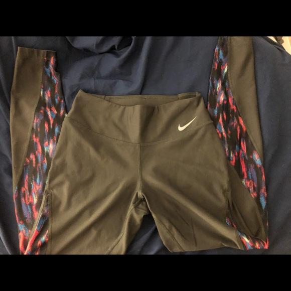 Nike dryfit tye dye look leggings